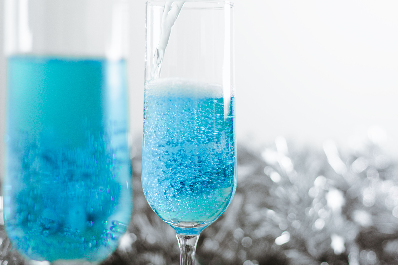 Something Blue Sparkling Wine Cocktail