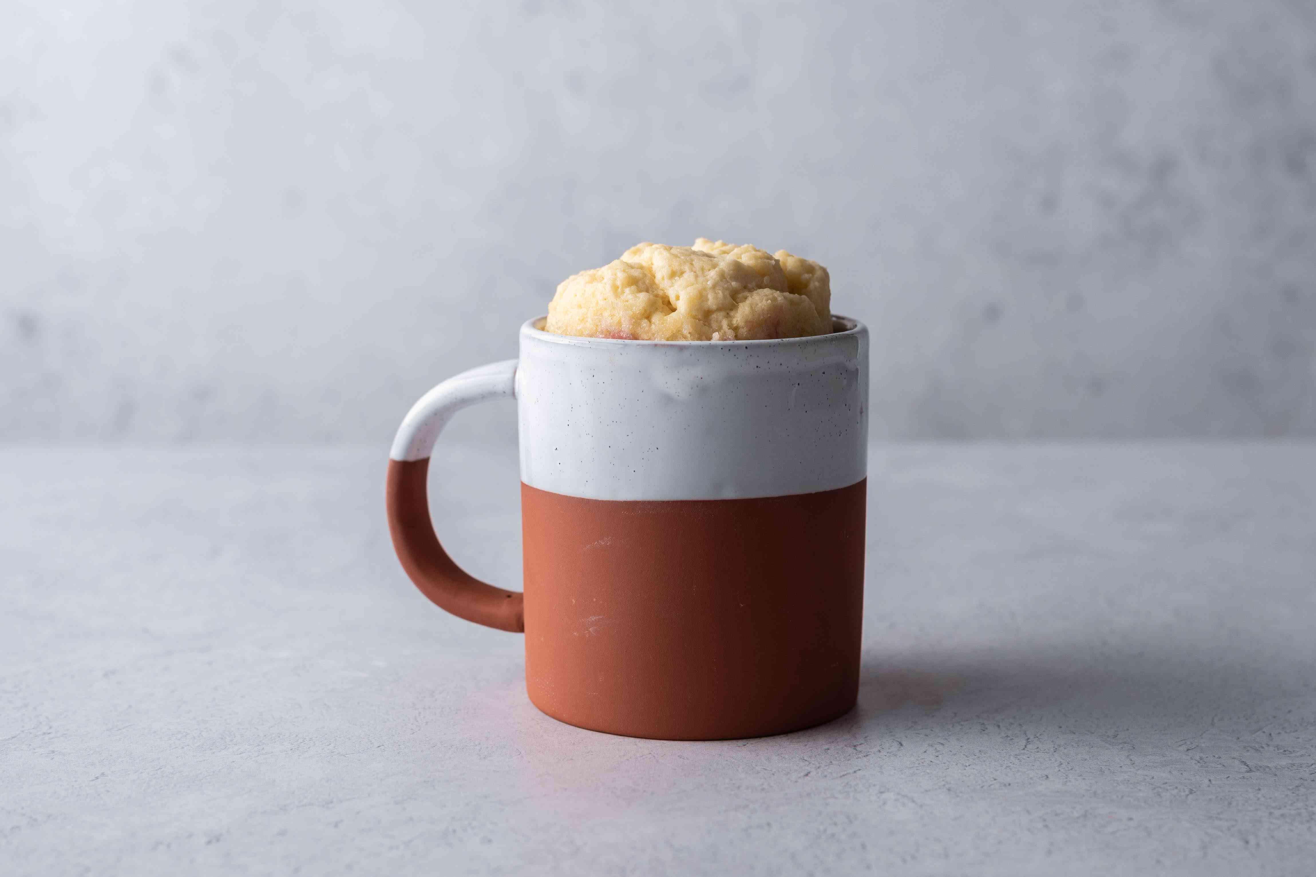 mug pie cooked