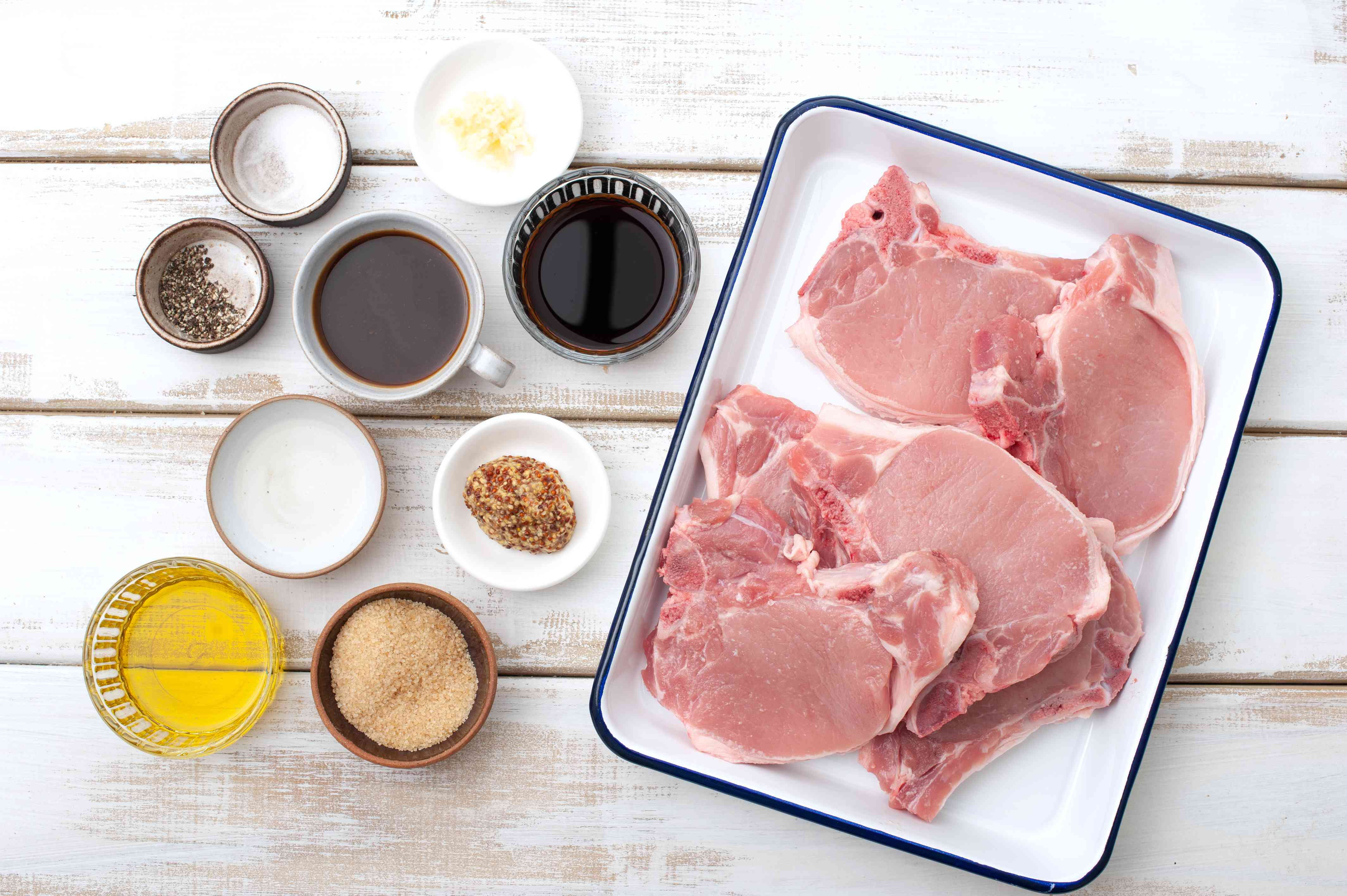 Ingredients for marinated pork chops