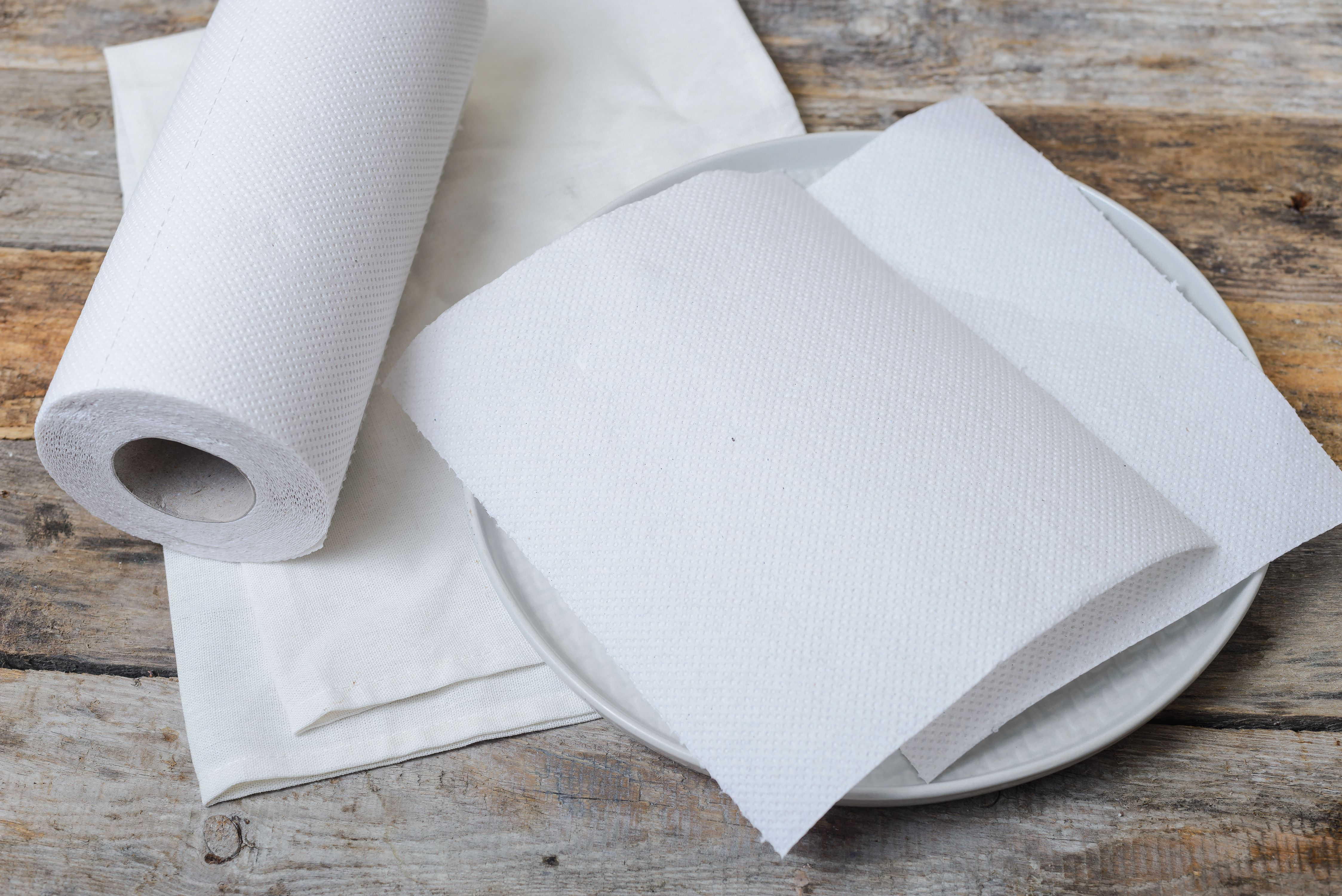 Line a plate with paper towels