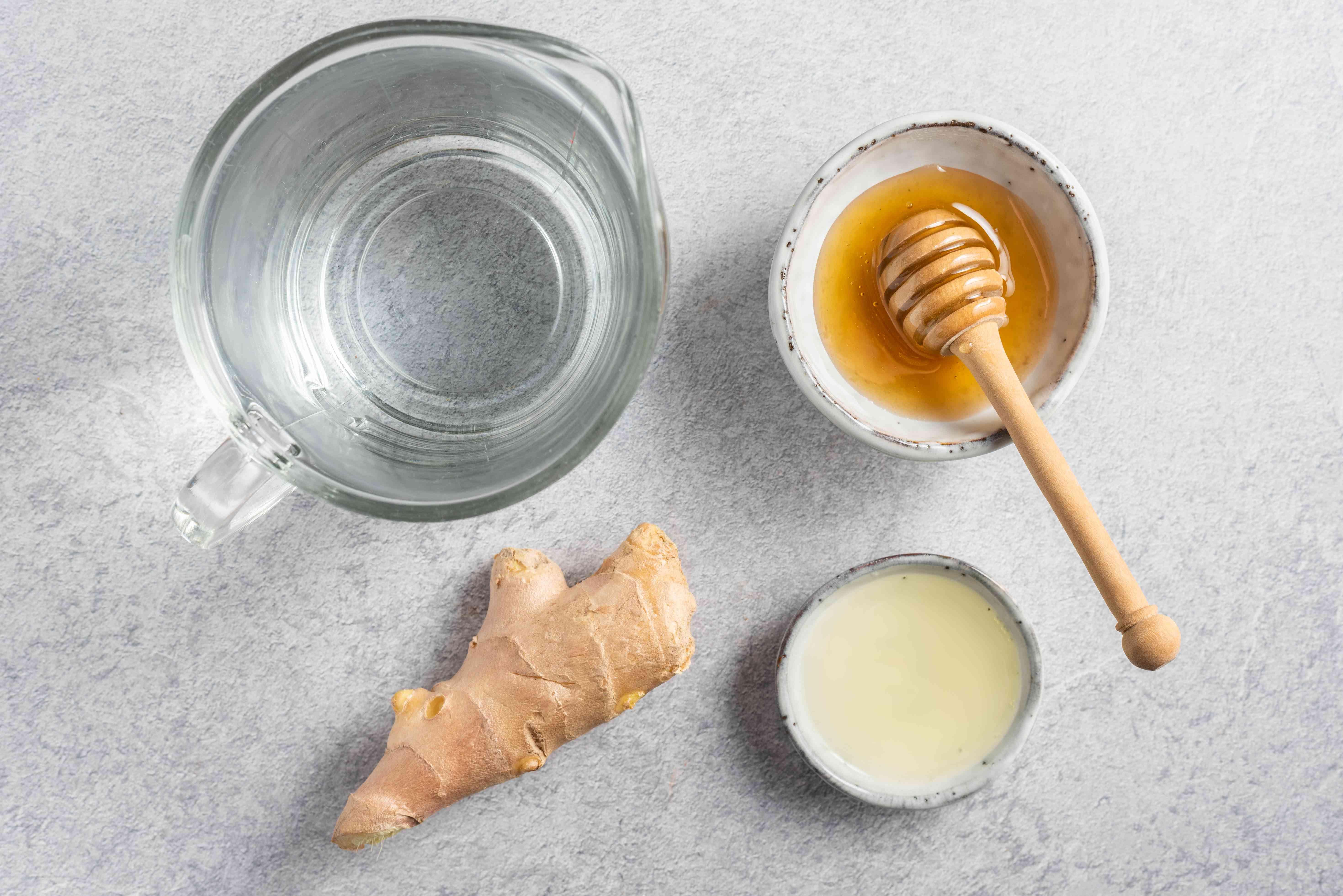 Ingredients for ginger tea