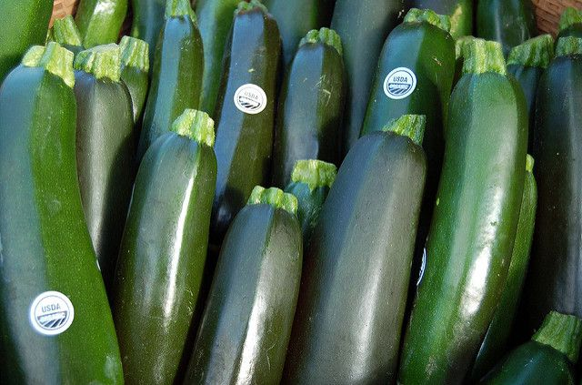 Zucchinis in store