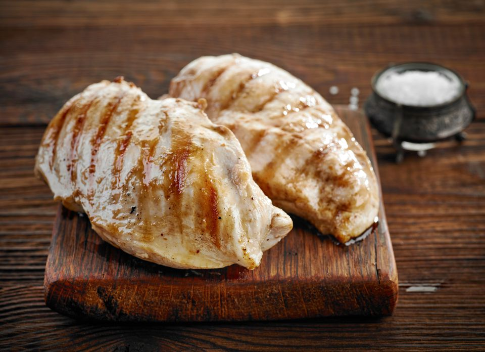 Grilled chicken fillets