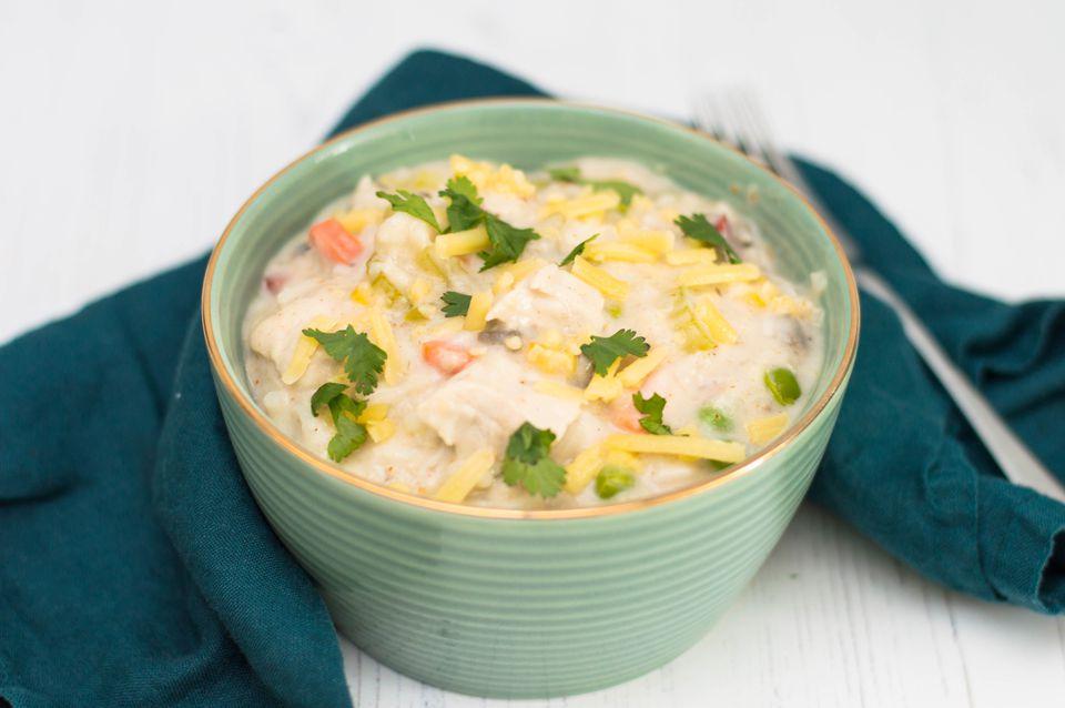 Cazuela de pavo y arroz con olla de barro