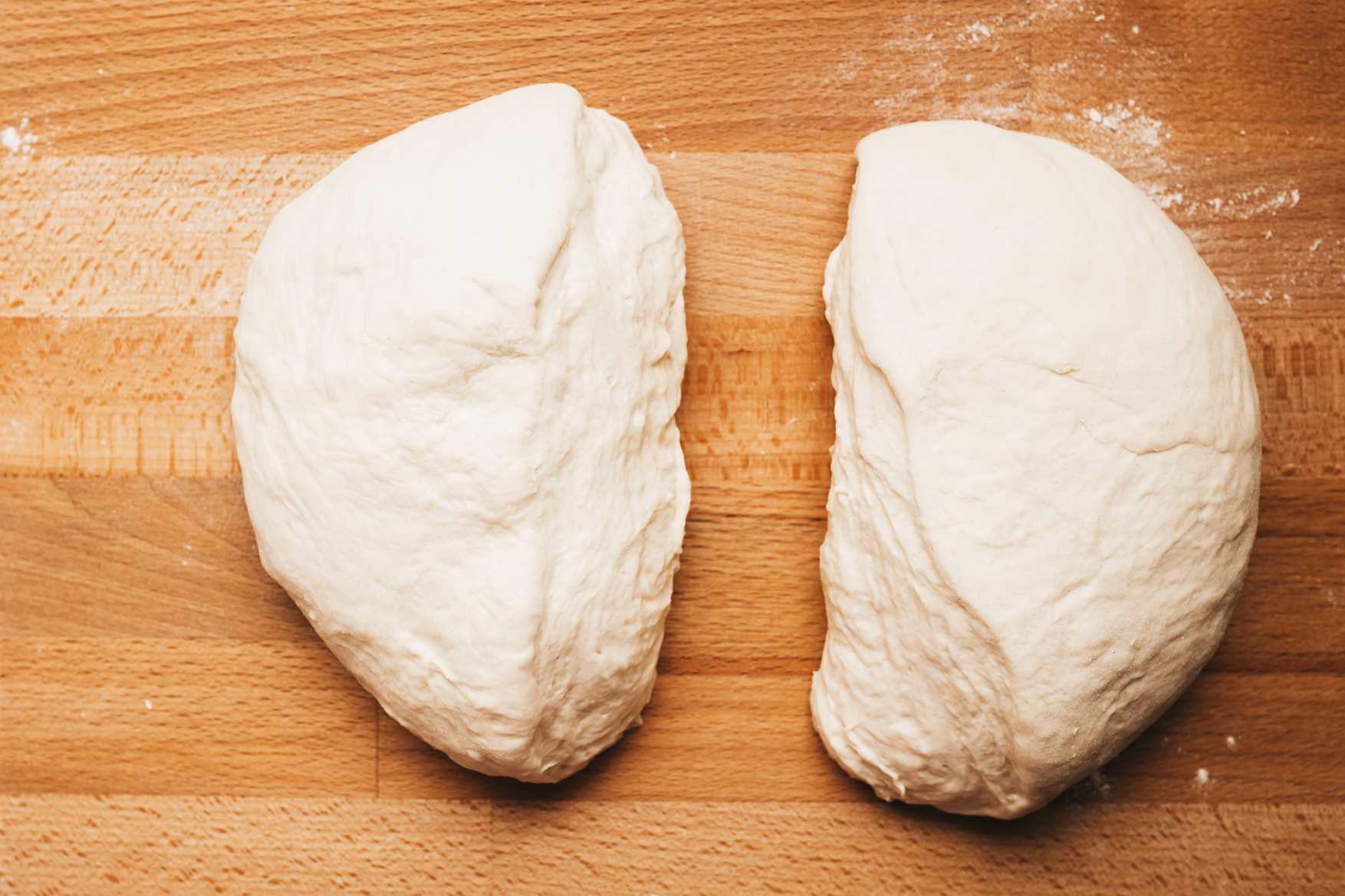 Divide dough into equal halves