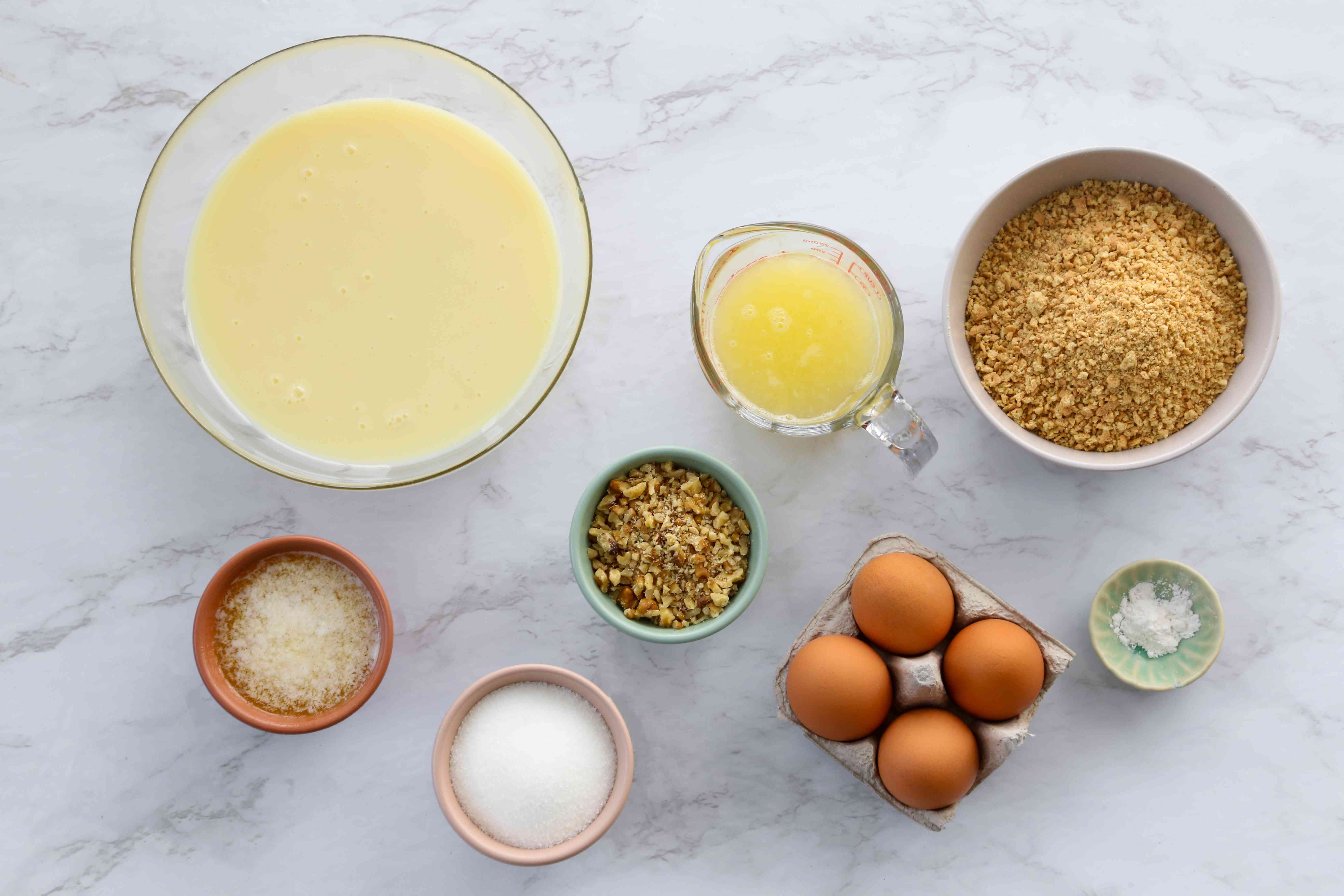 Graham Cracker Crust Lemon Meringue Pie ingredients