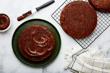 Let cool and frost cake