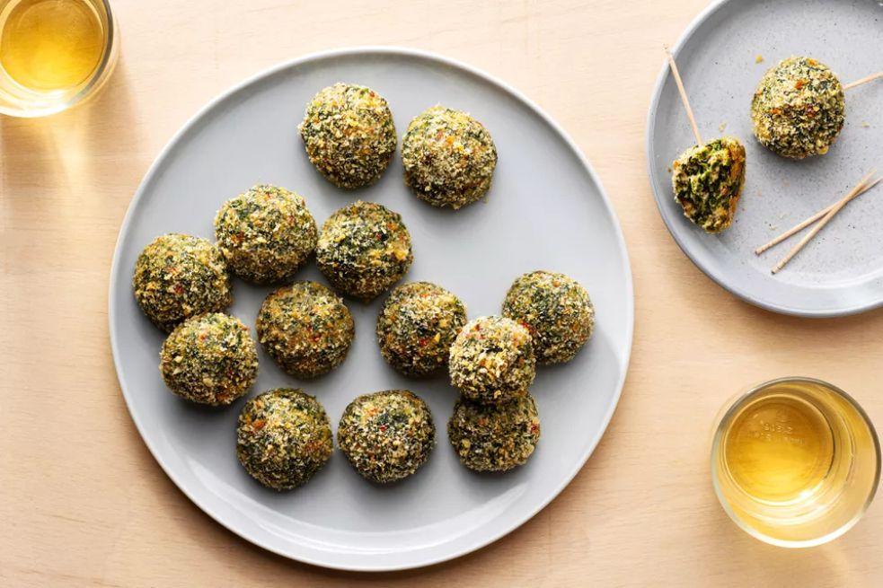 Baked Cheesy Spinach Balls