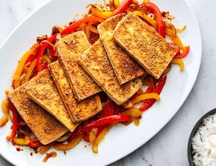 dry fried tofu