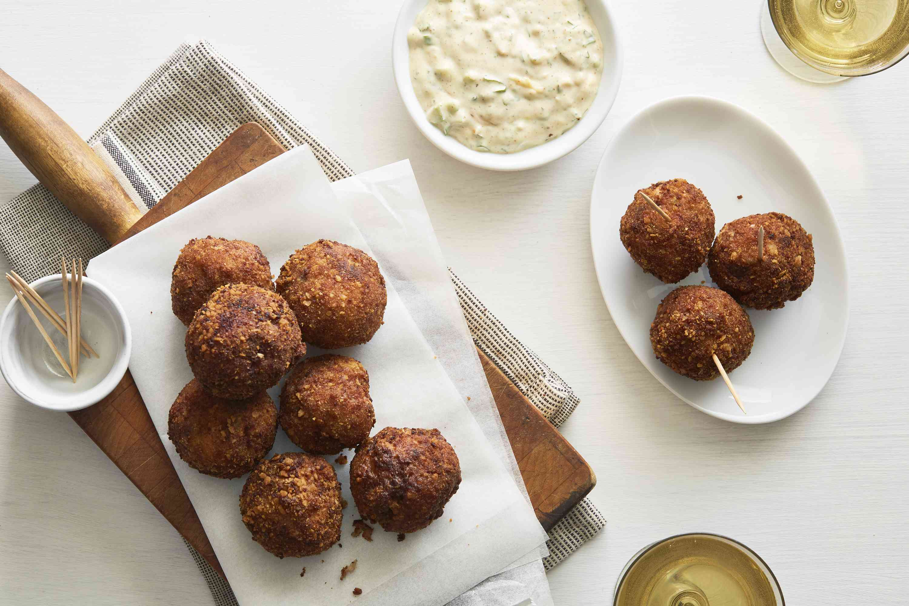 Fried Boudin Balls With Remoulade Sauce