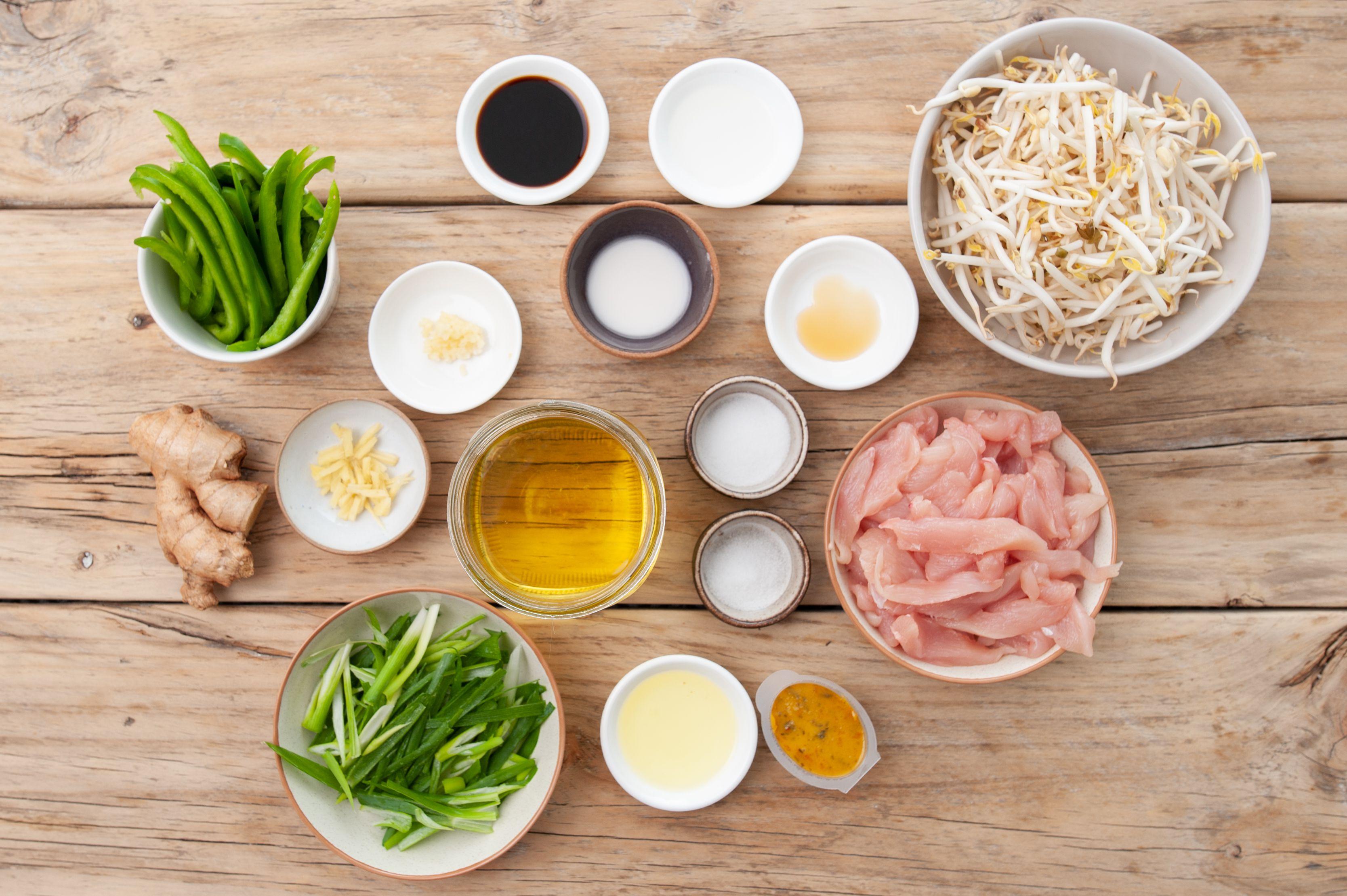 Ingredients for chicken chop suey recipe