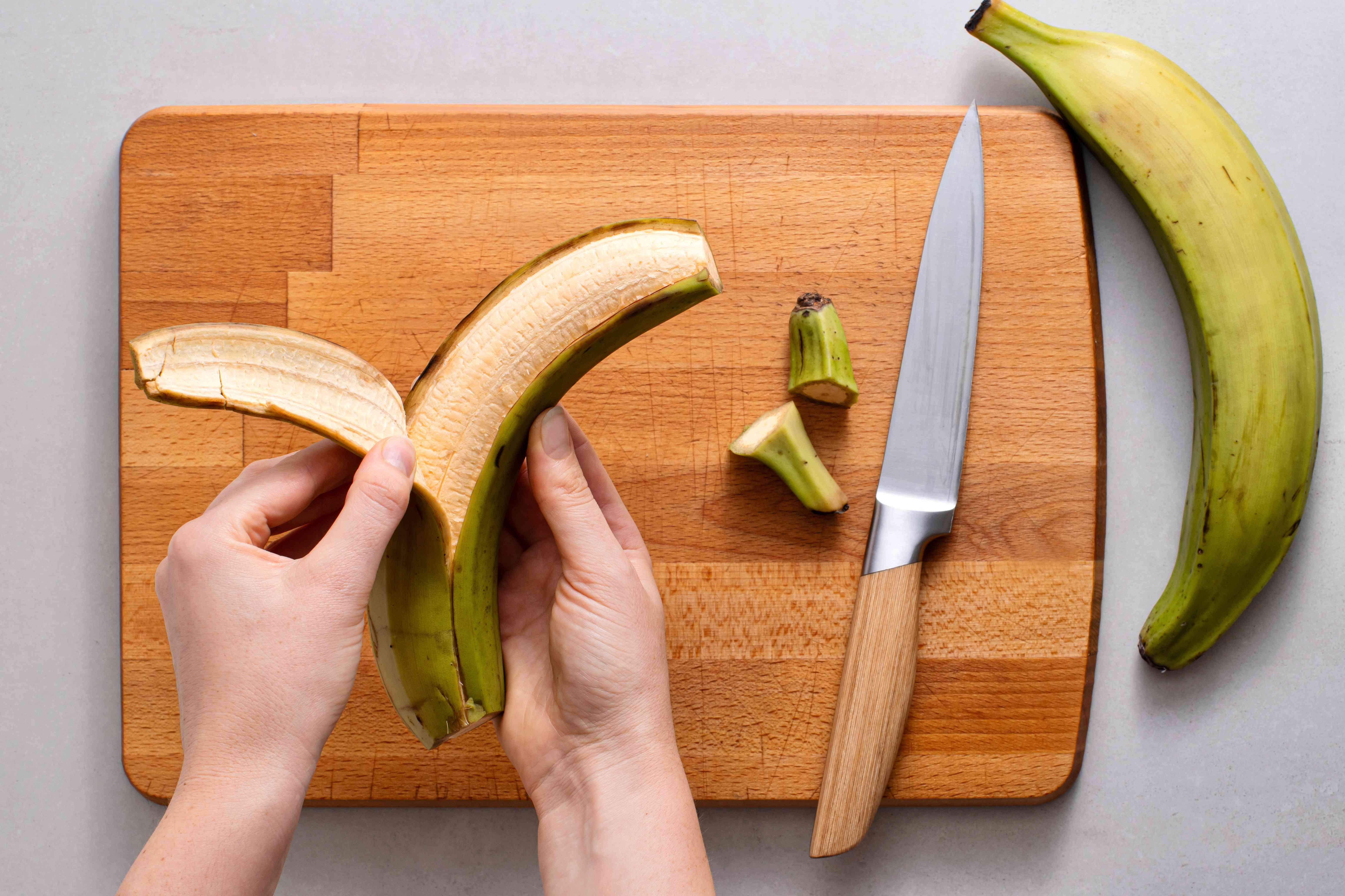 peel the Plantains