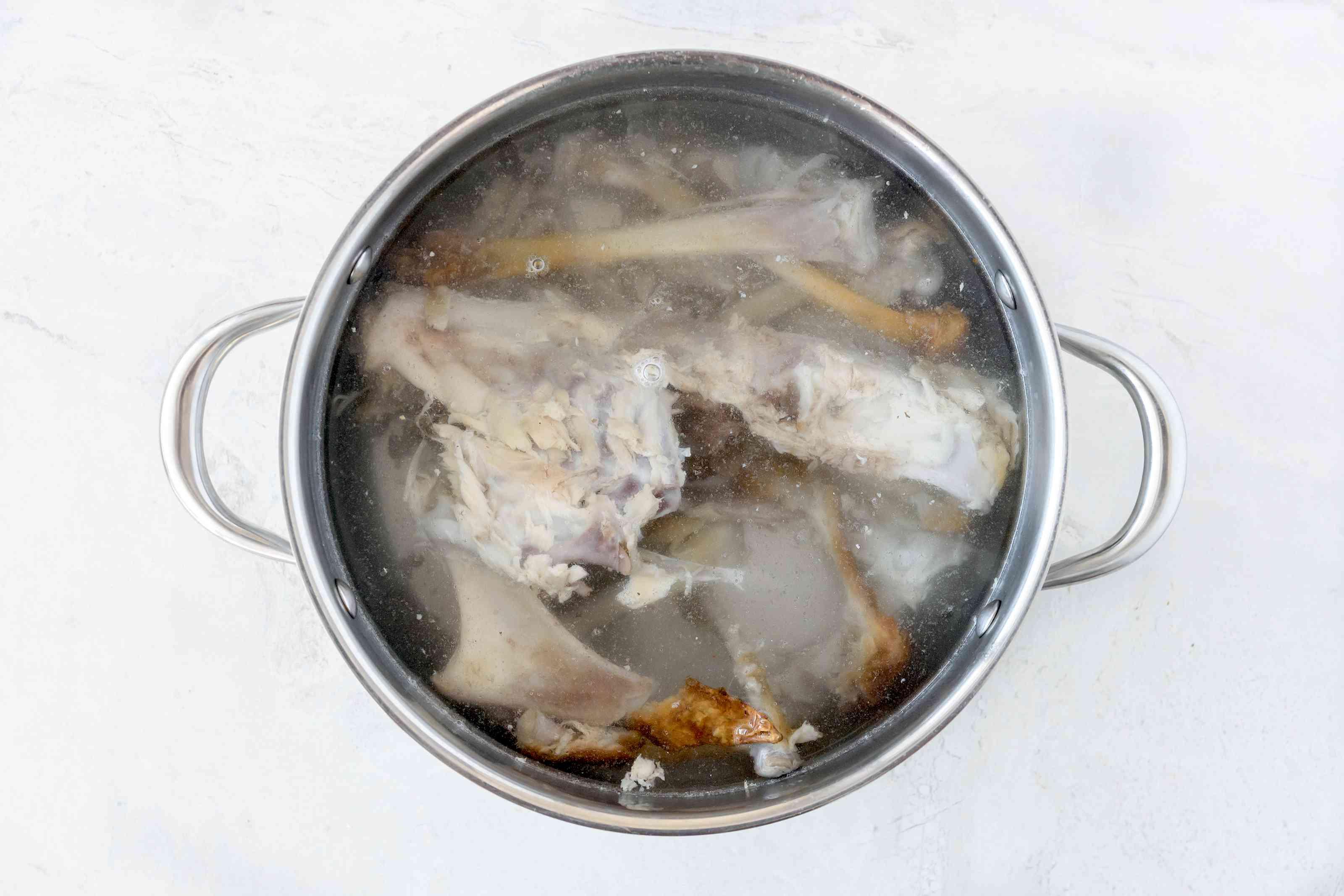 Return bones to pot