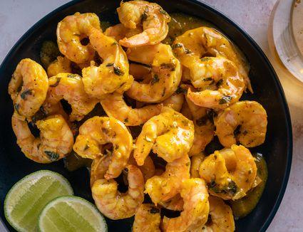 Easy Caribbean Island Lime Shrimp