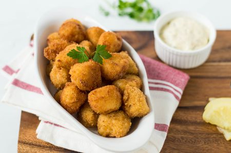 Image result for crumbed scallops