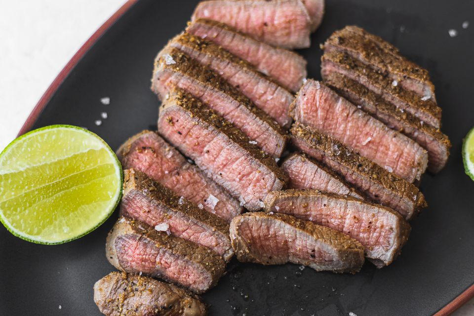 Spiced Lime-Marinated Eye of Round Steaks