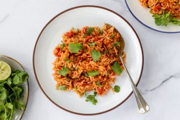 Classic Mexican Rice With Tomatoes and Peppers