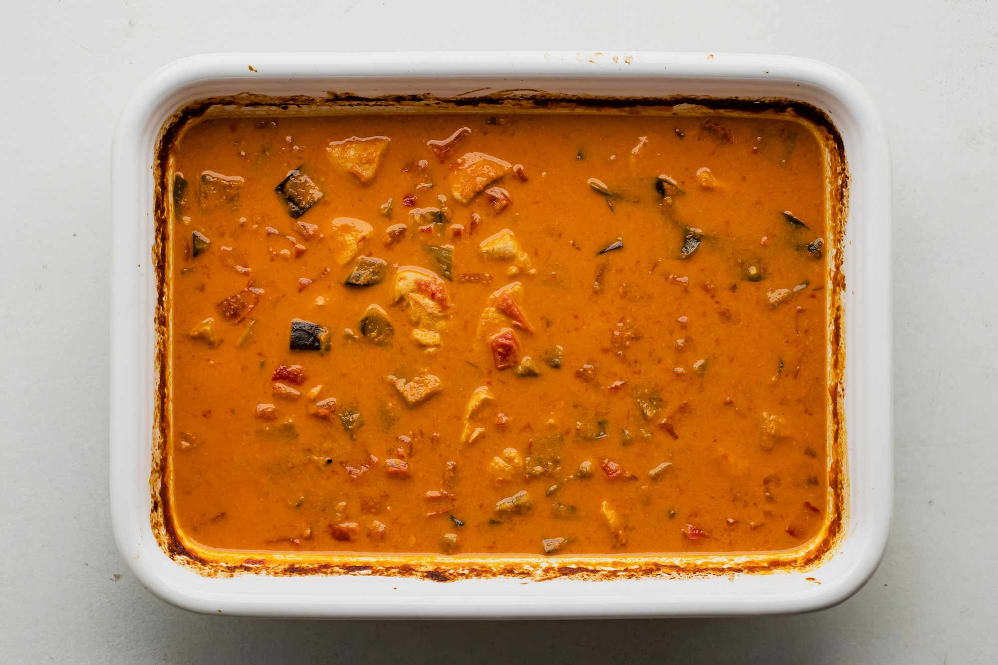 Return curry to oven