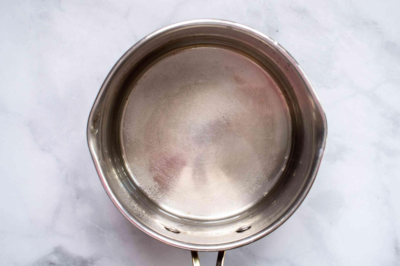 sugar syrup in a small saucepan
