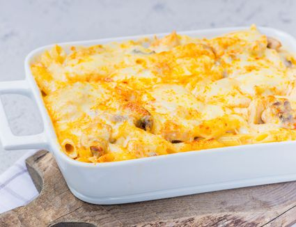 Chicken, cheese, and penne pasta bake