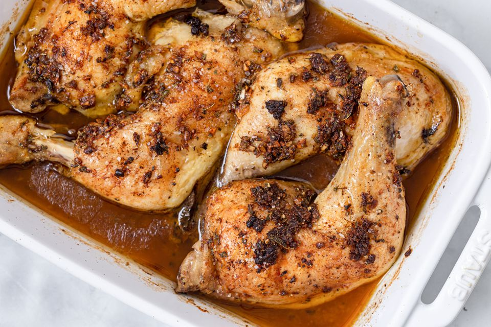 Garlic roasted chicken leg recipe
