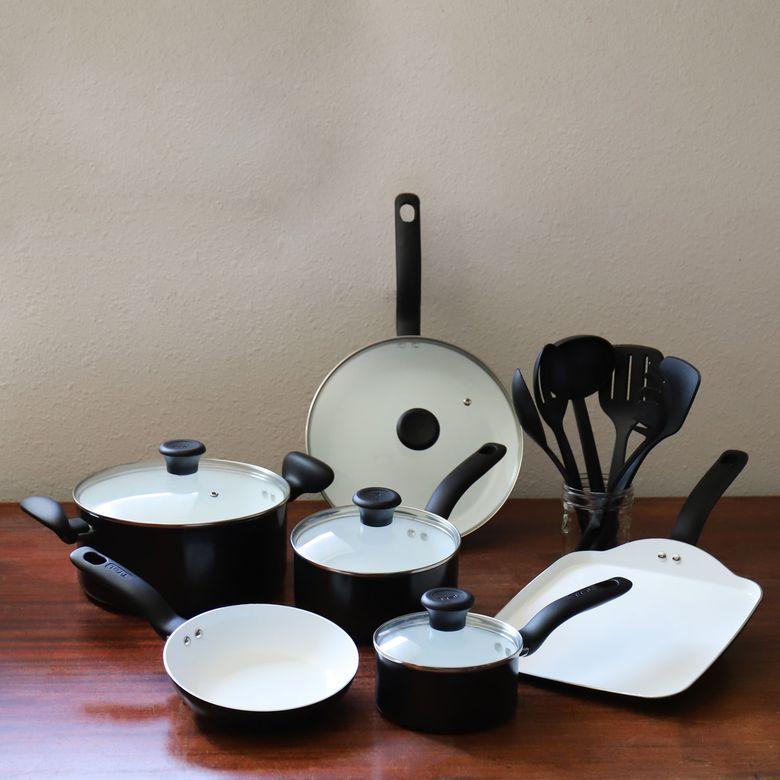 T-fal Initiatives Ceramic 16-pc. Cookware Set
