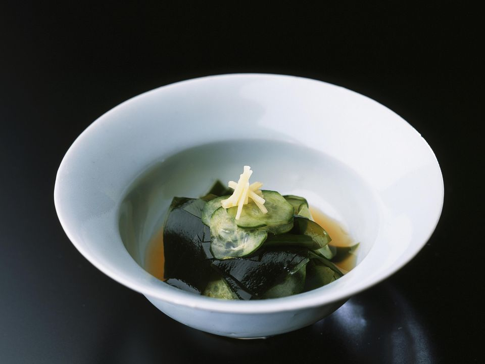 Japanese Cucumber and Daikon Sunomono Salad