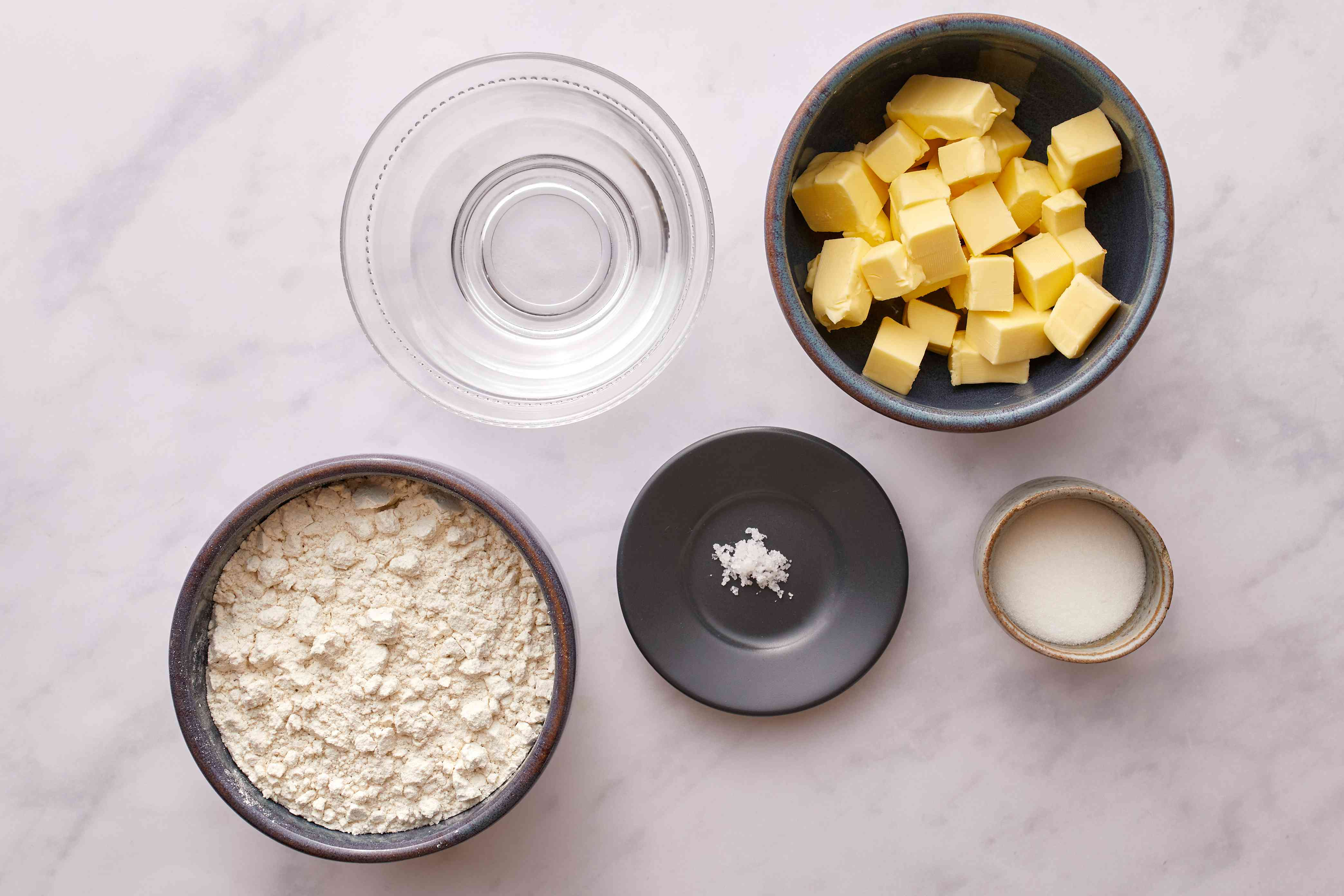 Buttery Flaky Pie Crust ingredients