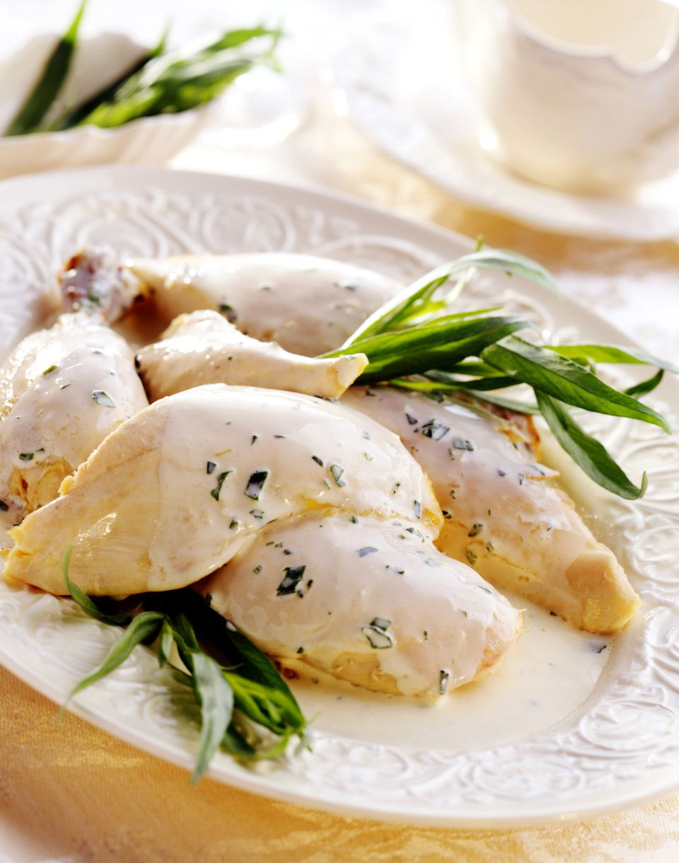 Chicken breasts in tarragon cream sauce