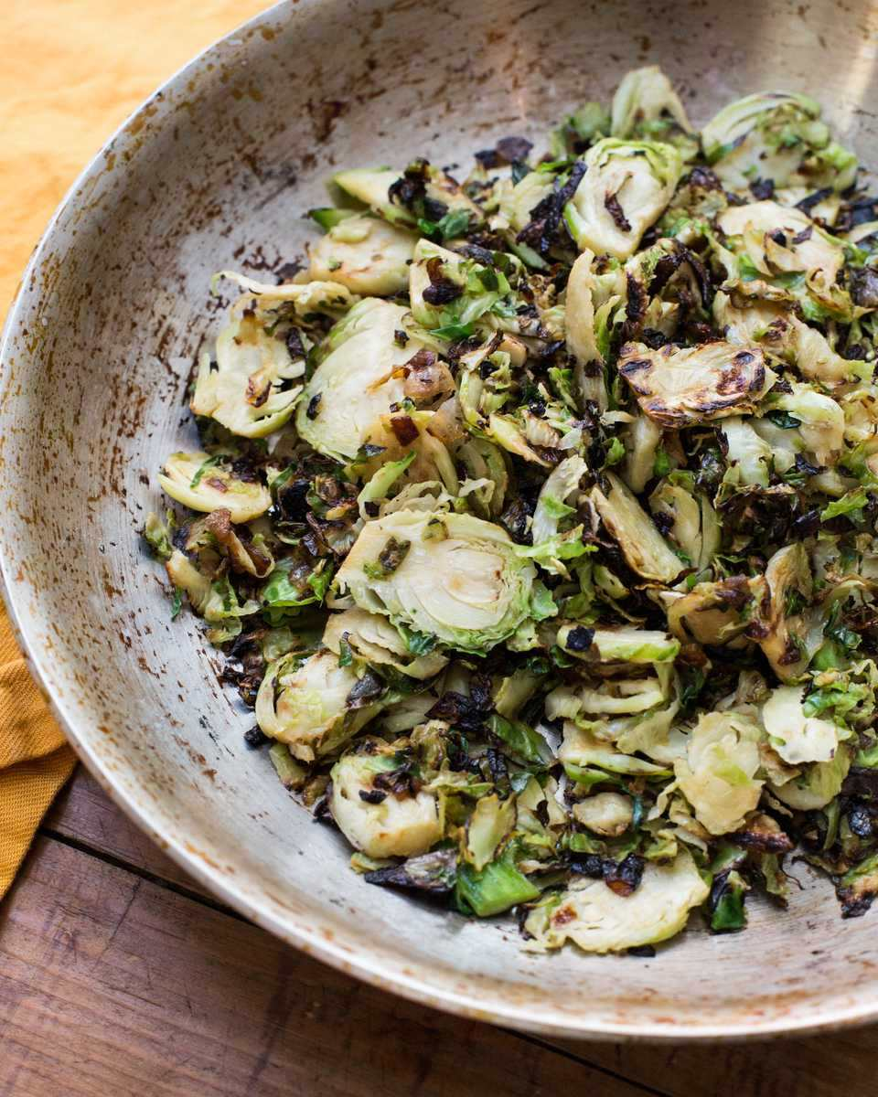 Sauteed Brussels Sprouts With Onions