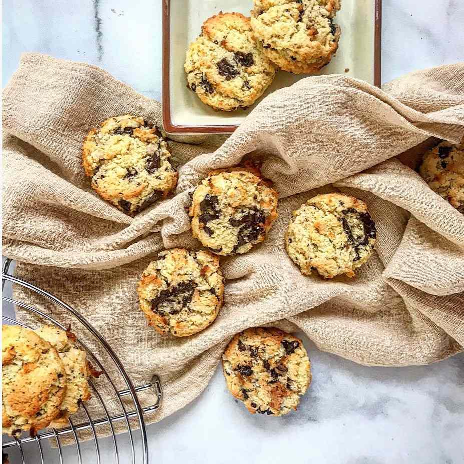 Gluten-Free Coconut Chocolate Chunk Cookies