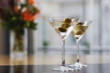 Martini glasses - stock photo