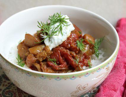 Khoresh Bademjan Persian Eggplant and Tomato Stew