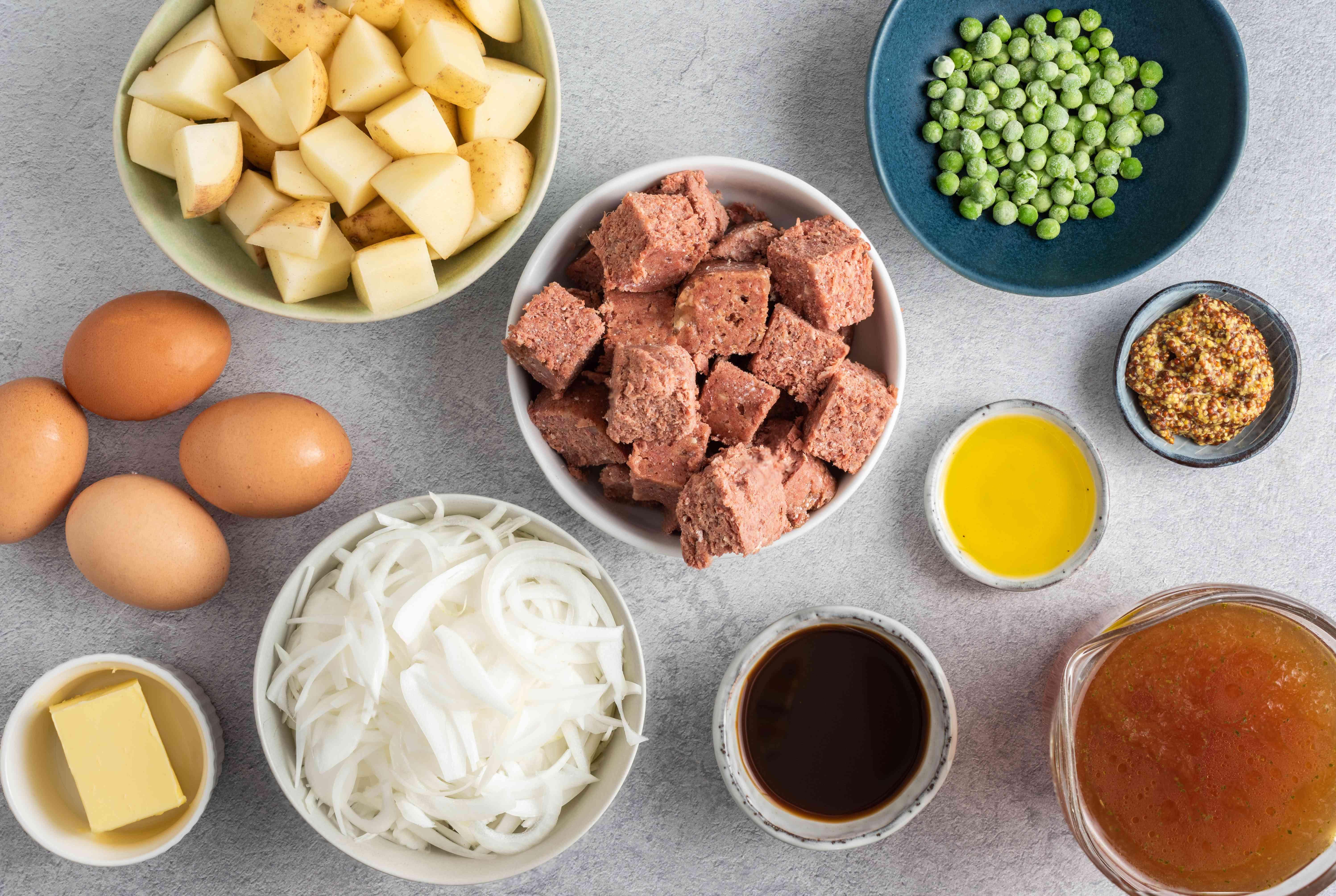 British Corned Beef Hash recipe ingredients