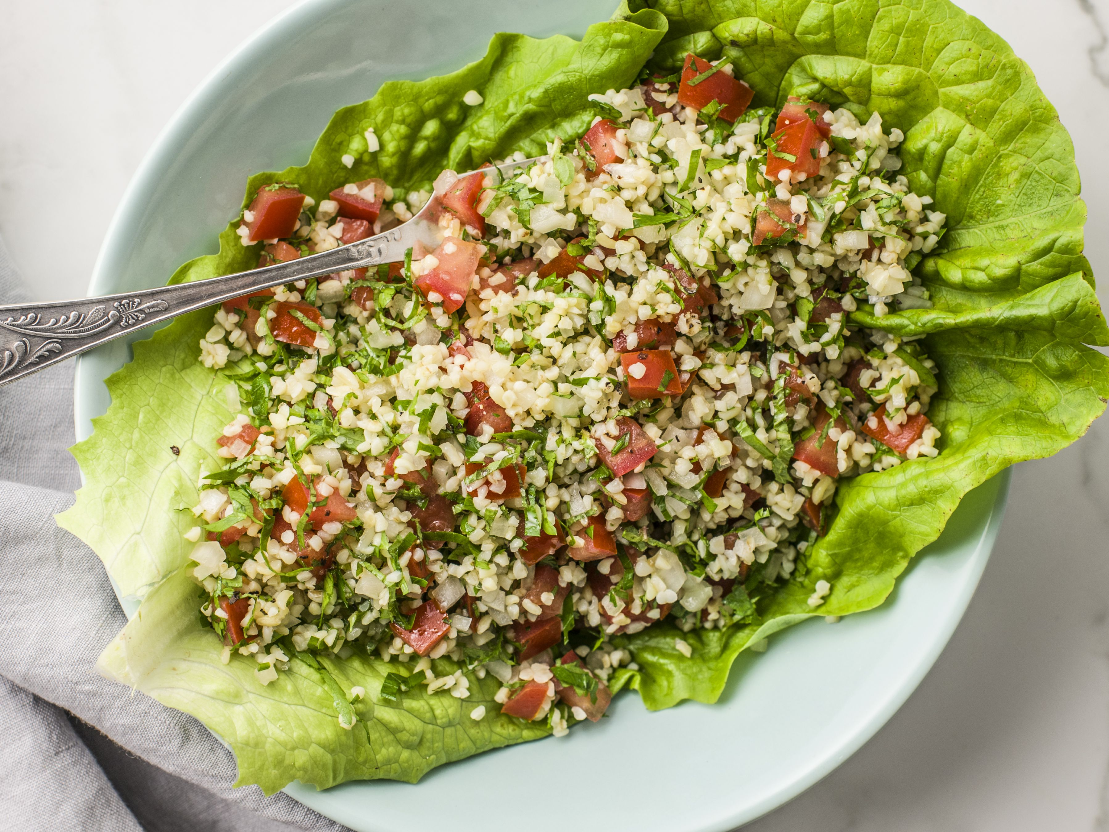 Recipe for How to Make Tabouleh (Wheat and Herb Salad)