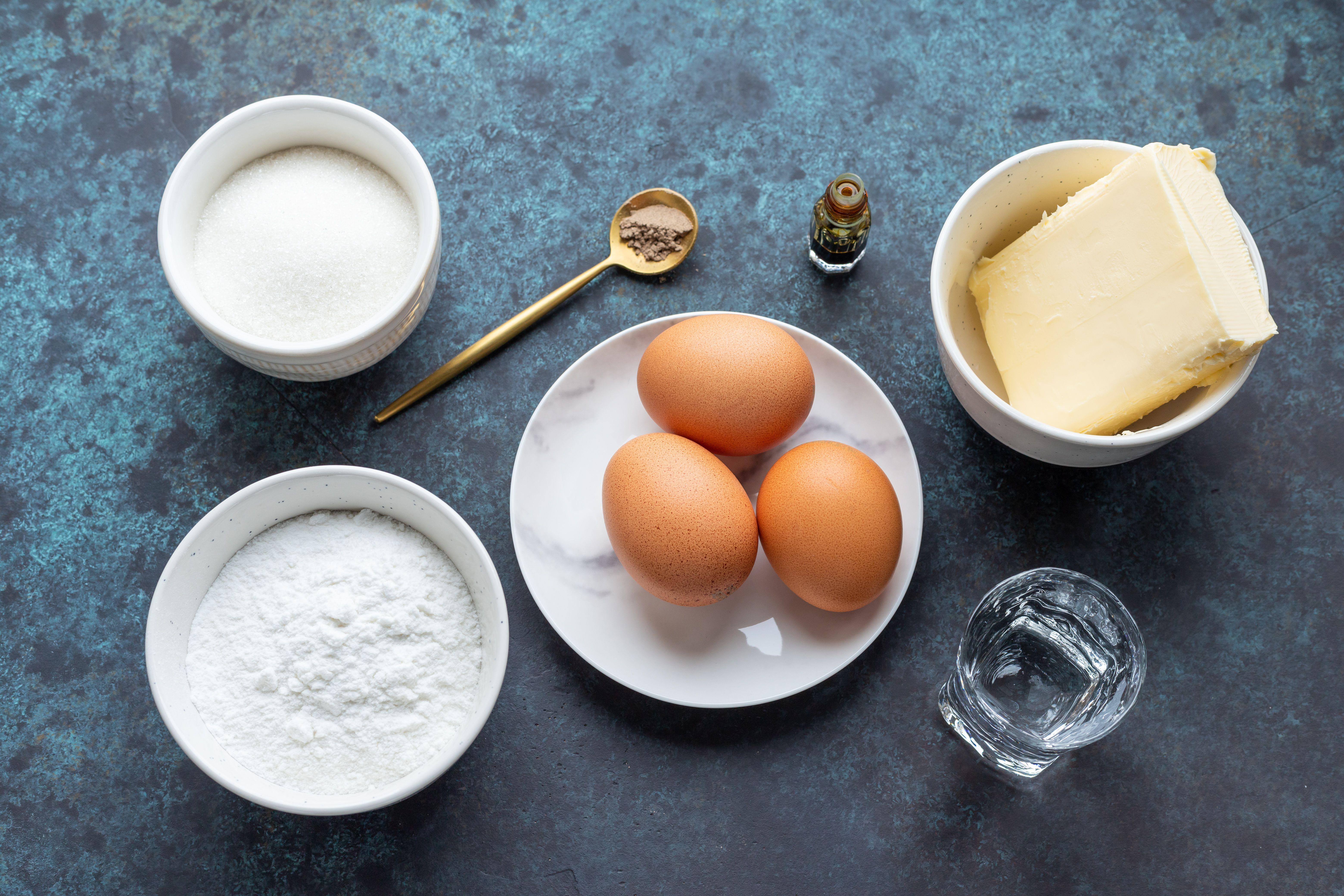 Ingredients for Krumkake cookies