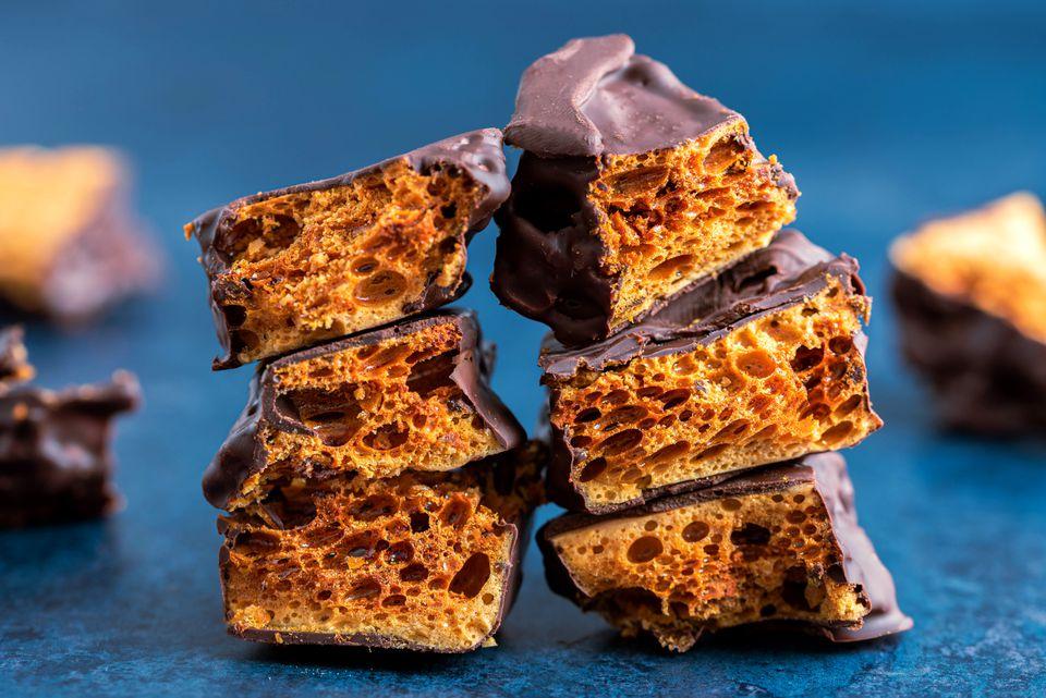 Chocolate-Dipped Honeycomb