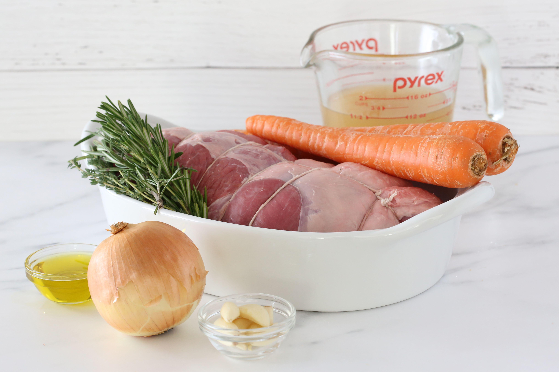Ingredients for Instant Pot leg of lamb