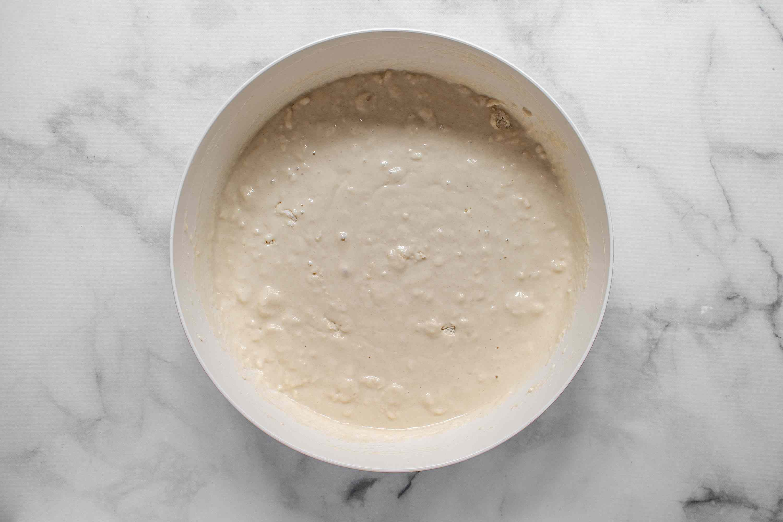 dough mixture in a bowl