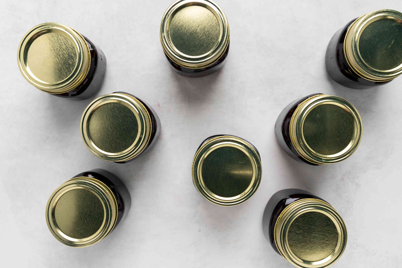 closed jars of jam