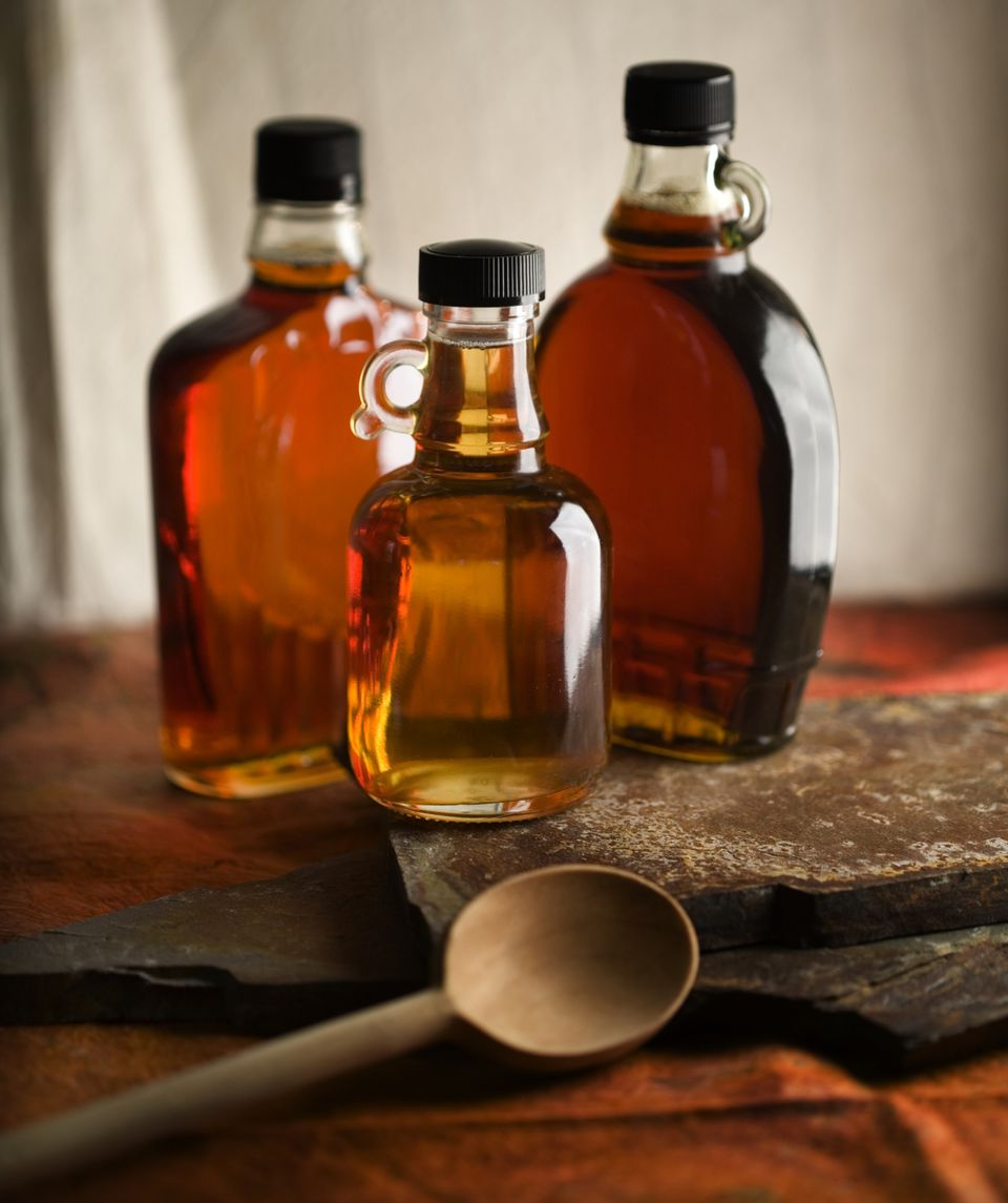 Bottles of Maple Syrup