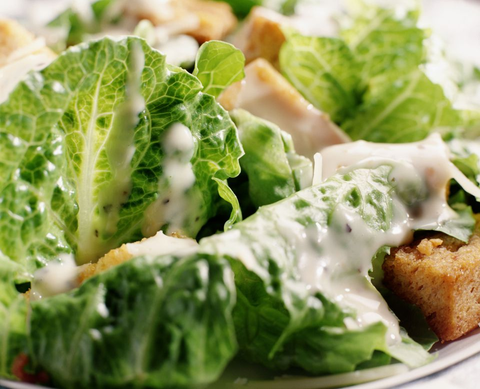 Caesar salad close-up