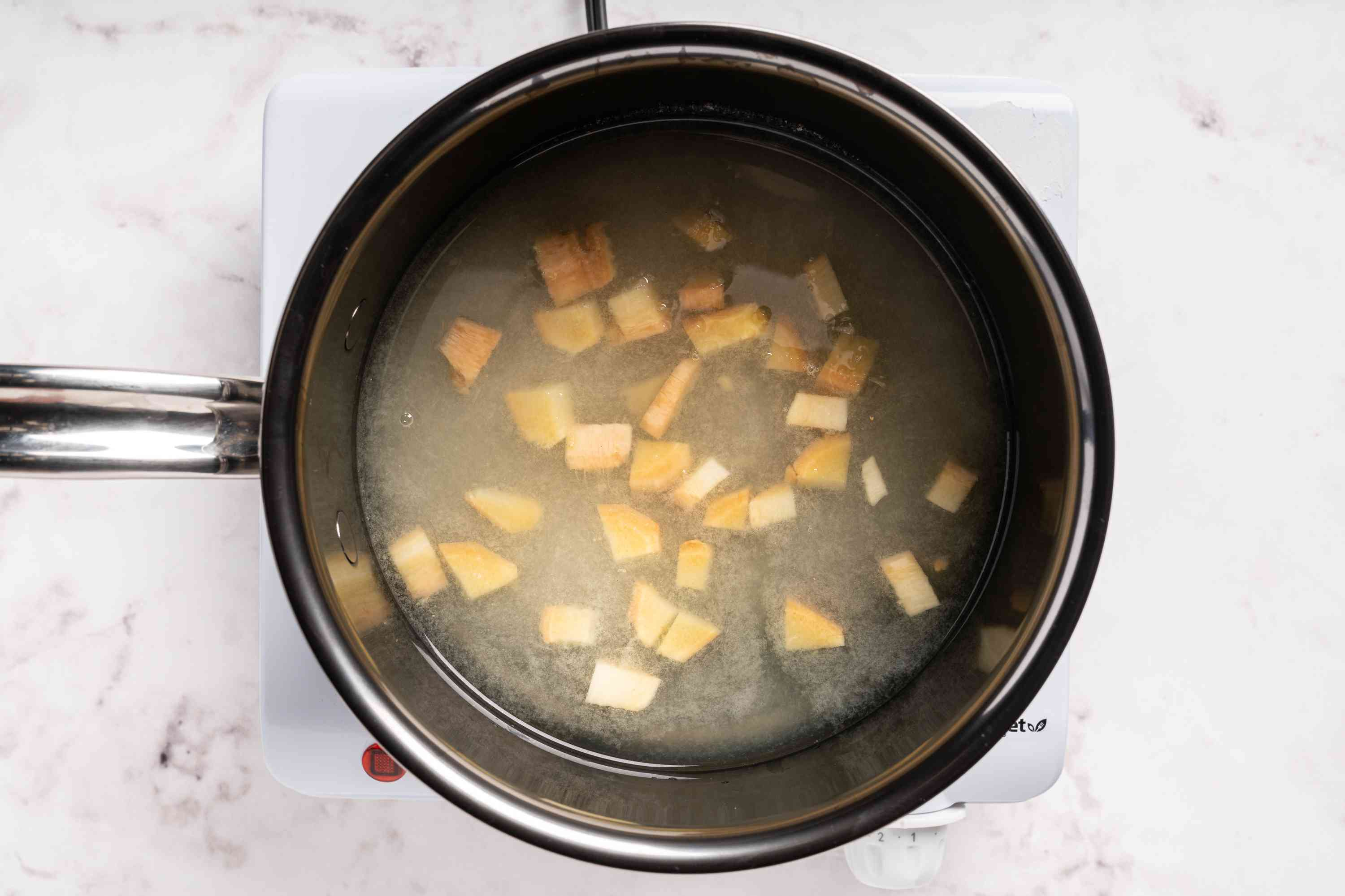 Bring all ingredients to a boil in a pot