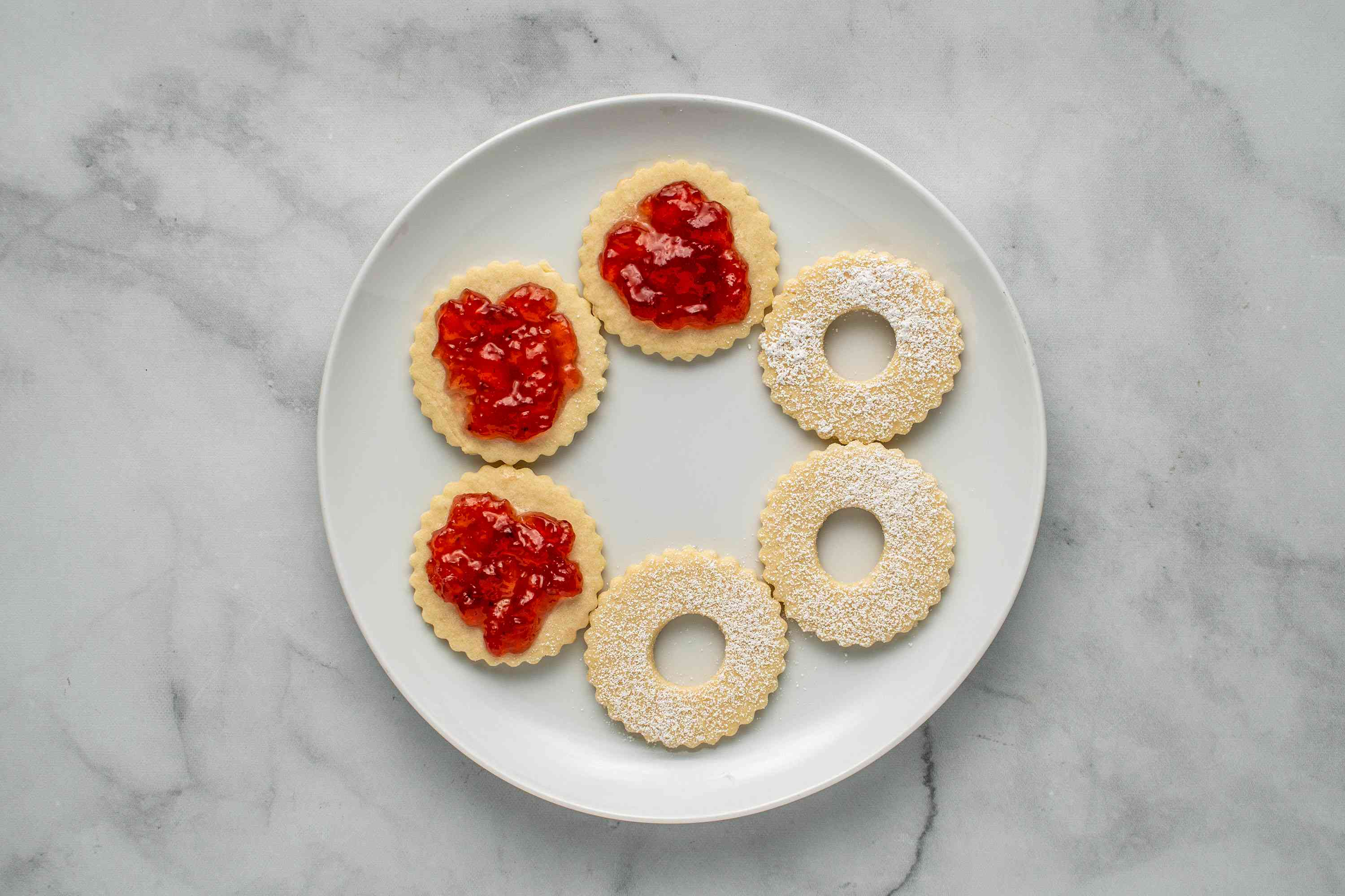 cookies with jam on top