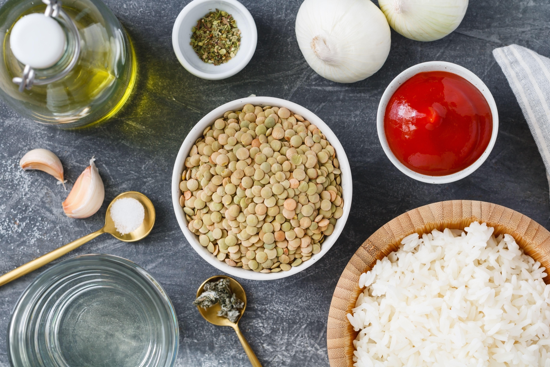 Vegan lentil loaf ingredients