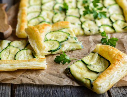 Cheese and Zucchini Puff Pastry Tart