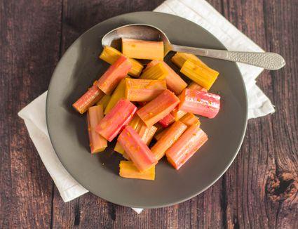 Roasted rhubarb recipe