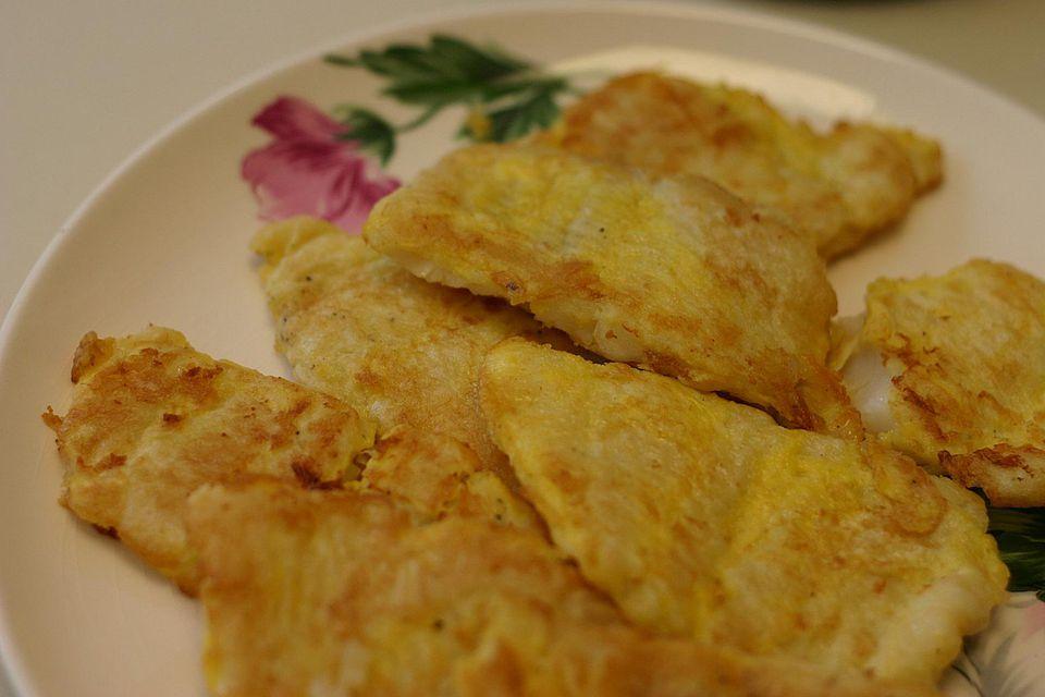 Korean pan-fried fish (saeng sun jun)