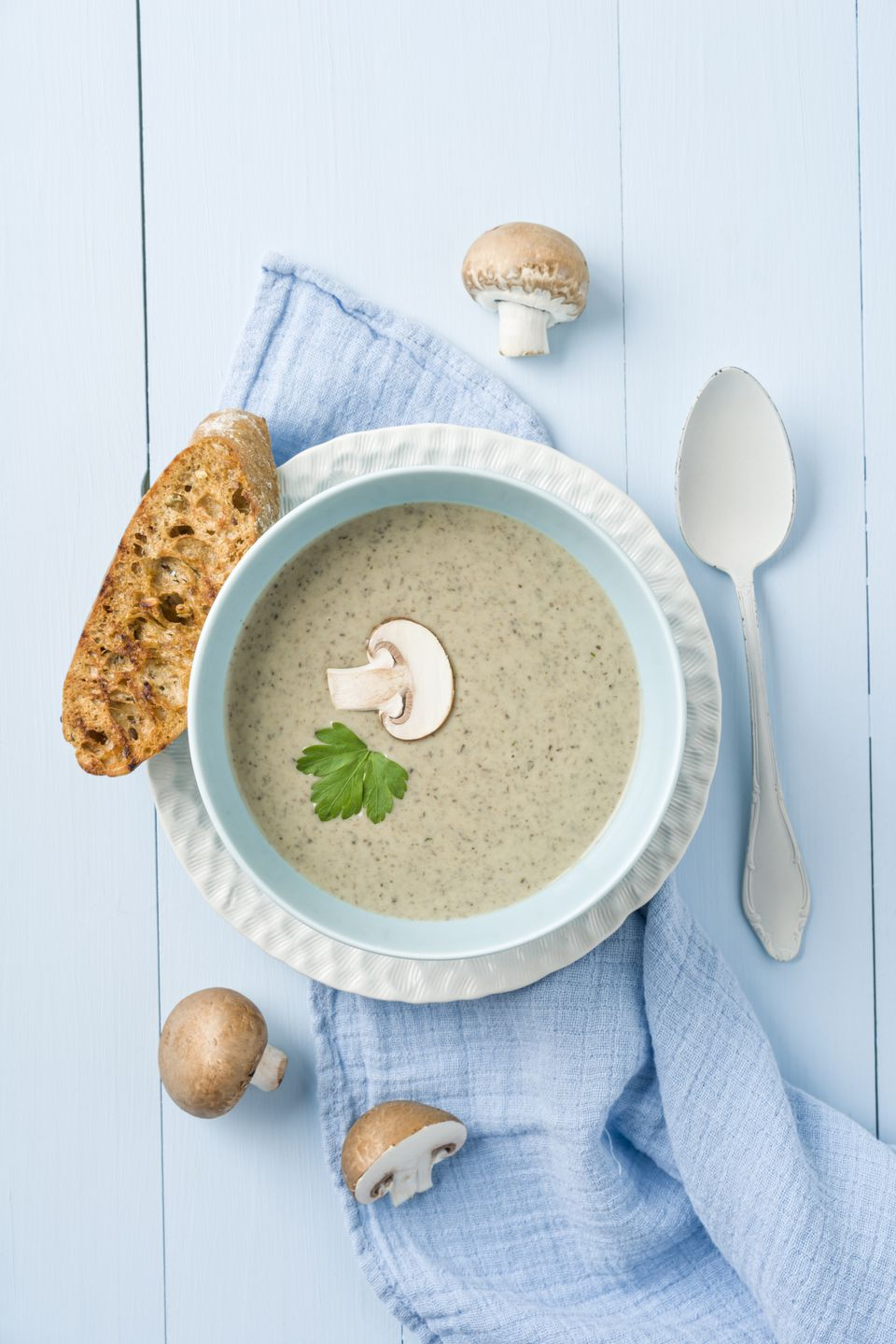 Cream of Mushroom Soup - German Champignon Cremesuppe