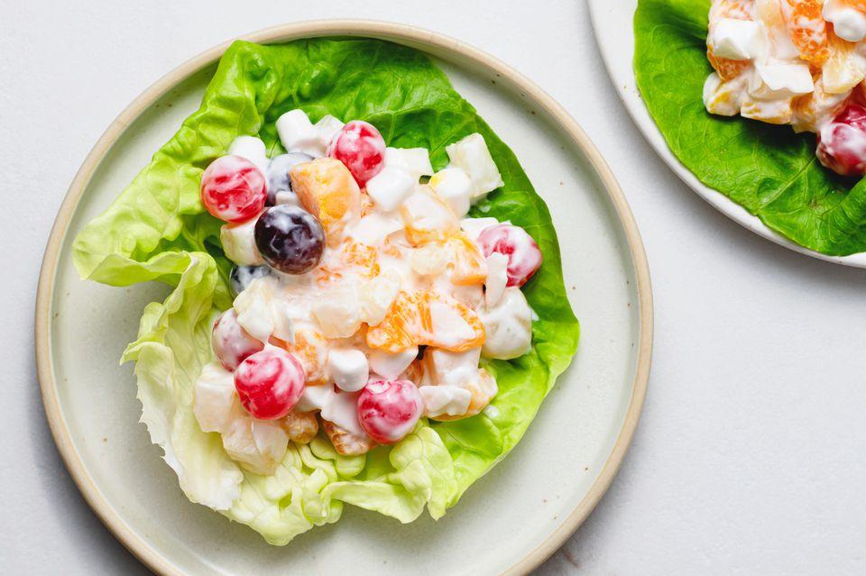 Ambrosia Fruit Salad With Sour Cream Dressing